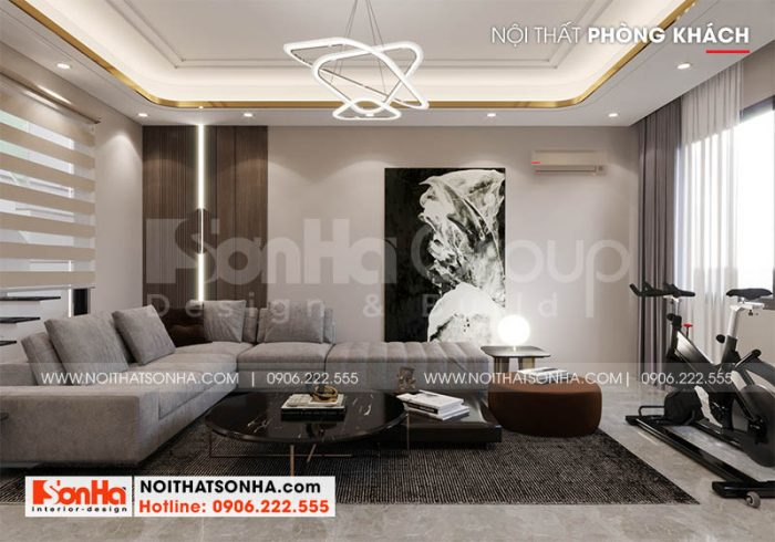 Nội thất nhà phố Hoàng Huy Mall mặt tiền 5m tại Hải Phòng