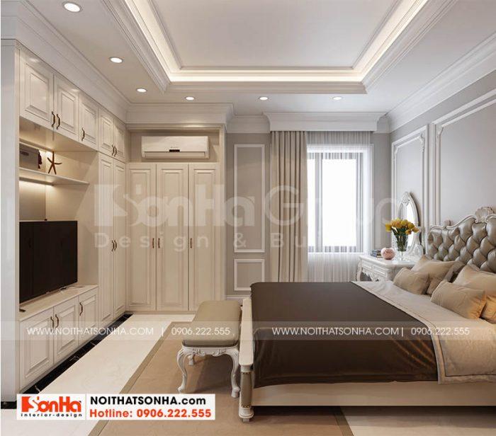 Thiết kế nội thất phòng ngủ master quý phái tại Hoàng Huy Mall Hải Phòng