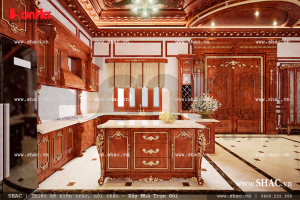 tủ bếp cổ điển đẹp