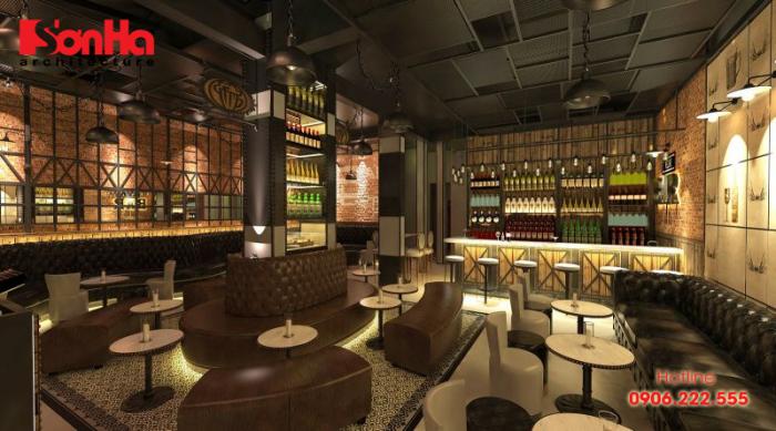 Thiết kế nội thất quán bar cafe cần có sự linh hoạt và sáng tạo