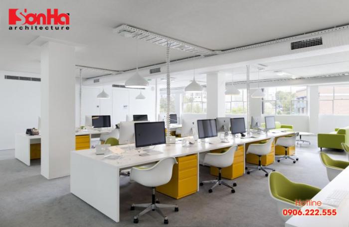 Ý tưởng thiết kế nội thất văn phòng hiện đại, sang trọng tạo môi trường thoải mái
