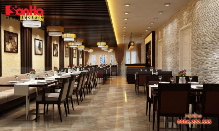 Thiết kế nội thất nhà hàng sao cho thu hút khách là điều quan trọng trong kinh doanh