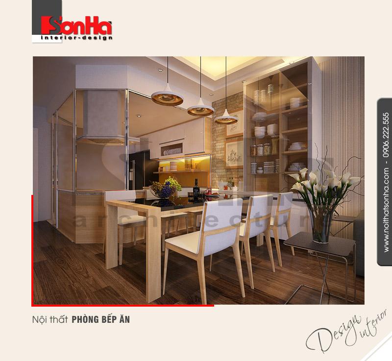 2.Mẫu nội thất phòng bếp ăn hiện đại tại hải dương NT NOD 0101