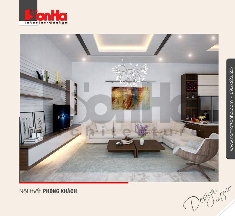 1.Thiết kế nội thất phòng khách hiện đại biệt thự tại hải phòng NT BTD 0039