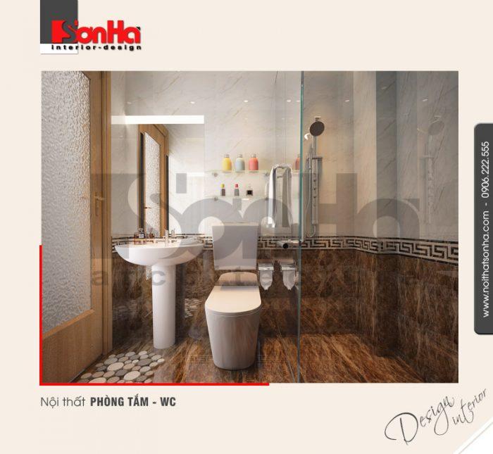 11.Thiết kế nội thất phòng tắm wc nhà ống hiện đại tại hải phòng NT NOD 0125