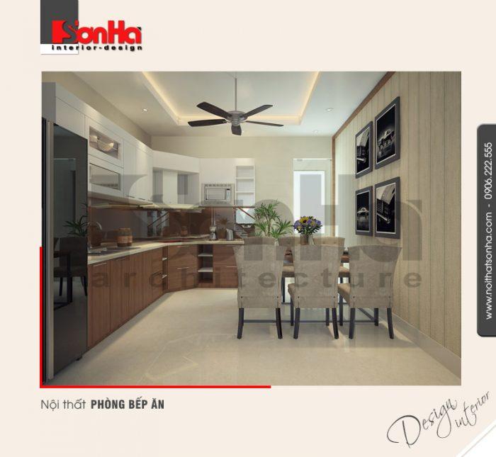 2.Mẫu nội thất phòng bếp ăn đơn giản