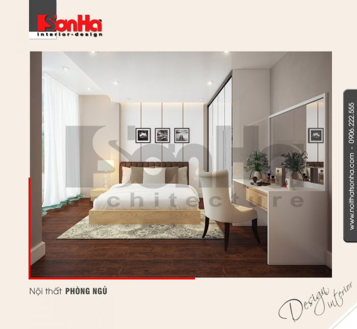 4.Mẫu nội thất phòng ngủ nhà ống hiện đại tại hải phòng NT NOD 0130