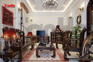 BIA Thiết kế nội thất biệt thự đẹp kiểu cổ điển tại Bắc Ninh NT BTP 0017