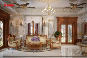 BIA Trang trí nội thất nhà biệt thự 3 tầng phong cách tân cổ điển đẹp tại Ninh Bình NT BTP 0094