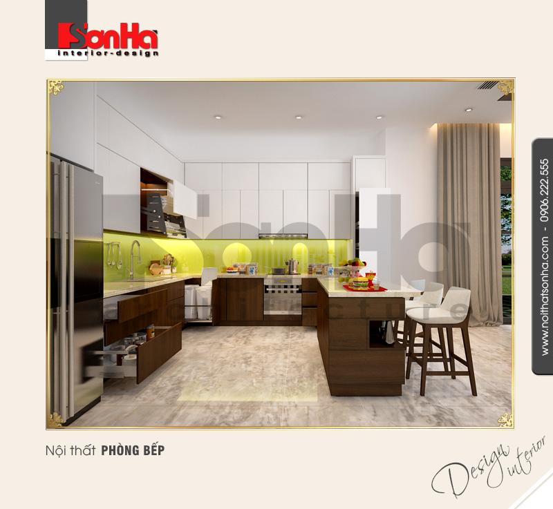 1 Thiết kế nội thất phòng bếp ăn biệt thự khu đô thị vinhomes hải phòng