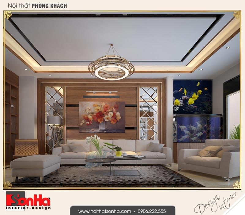 1 Thiết kế nội thất phòng khách hiện đại đẹp tại quảng ninh