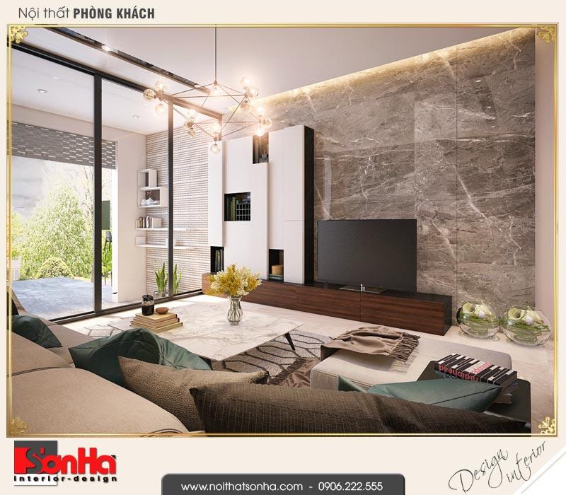 3 Thiết kế nội thất phòng khách hiện đại nhà phố liền kề khu đô thị pg an đồng hải phòng