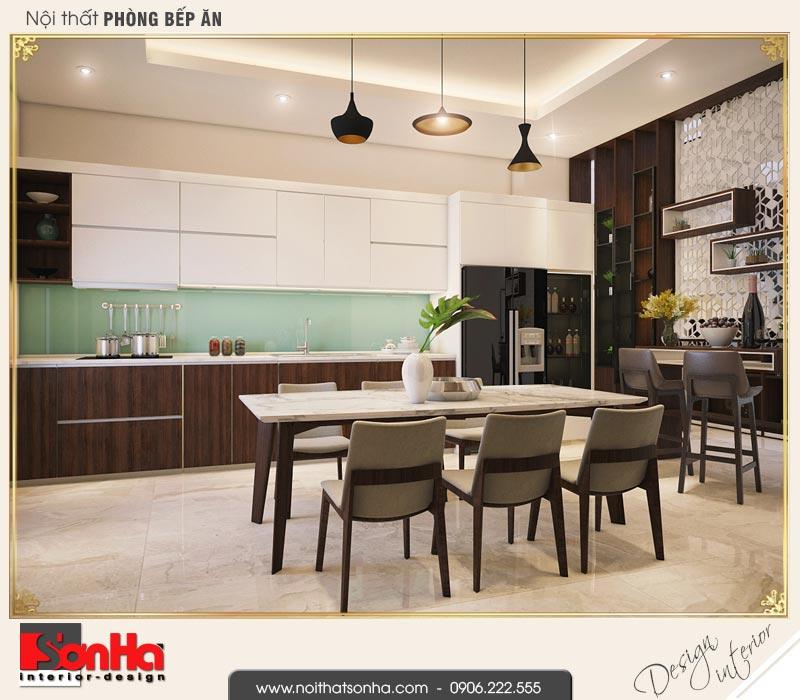 5 Thiết kế nội thất phòng bếp ăn nhà phố liền kề khu đô thị pg an đồng hải phòng