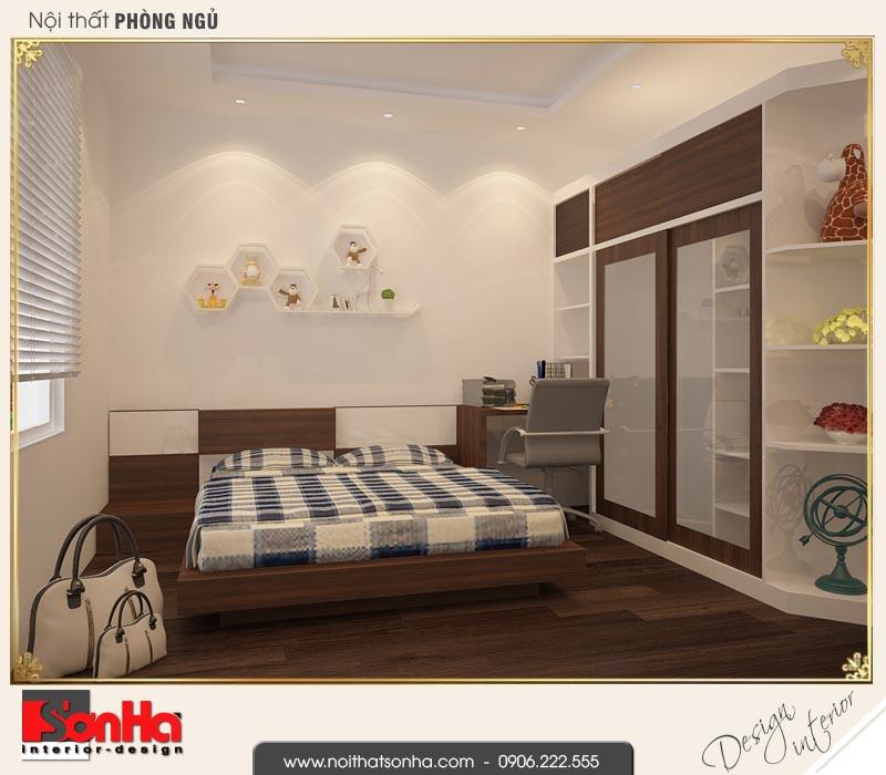 8 Mẫu nội thất phòng ngủ con trai nhà phố liền kề 4 tầng khu đô thị pg an đồng hải phòng
