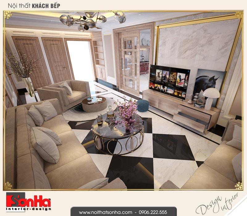 12 Mẫu nội thất phòng khách bếp khách sạn 3 sao tại vũng tàu sh ks 0051
