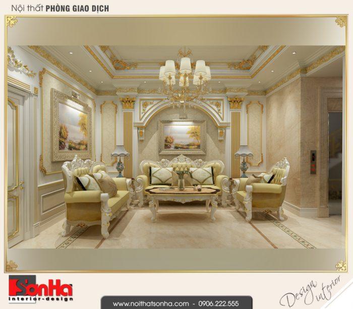 3 Thiết kế nội thất phòng khách nhà ống kiến trúc pháp tại vĩnh phúc sh nop 0163