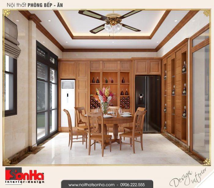 4 Thiết kế nội thất phòng bếp ăn biệt thự tân cổ điển khu đô thị vinhomes hải phòng vhi 0003