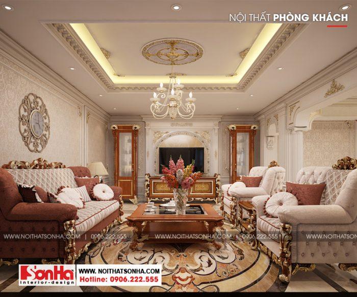 1 Thiết kế nội thất phòng khách tân cổ điển đẹp tại sài gòn sh btp 0131