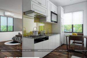 4 Mẫu nội thất khu bếp ăn hiện đại phòng ngủ 2 căn hộ cho thuê tại hải phòng