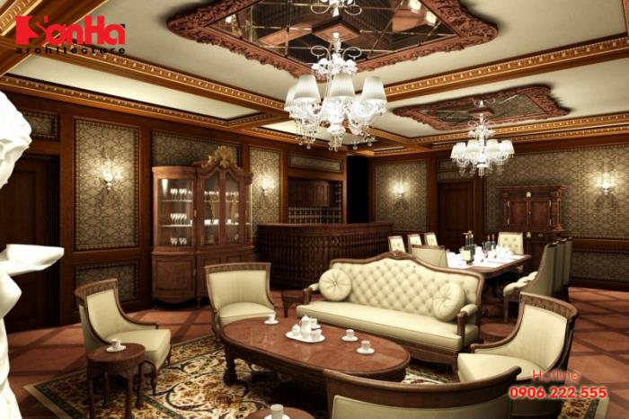 Phòng khách là không gian quan trọng nhất trong nội thất biệt thự