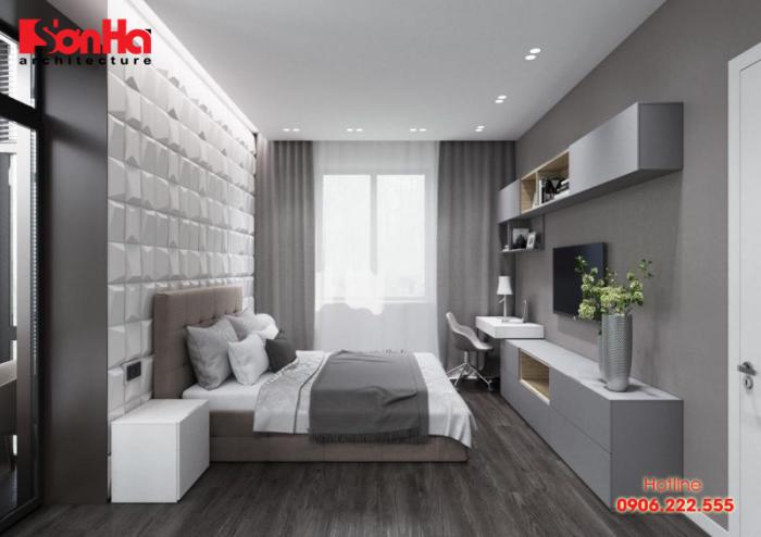 Phương án thiết kế phòng ngủ đẹp và sang với bố trí vật dụng giản dị