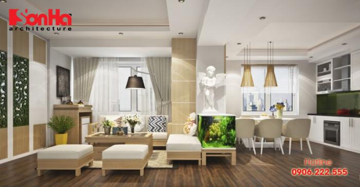 Thiết kế nội thất căn hộ phong cách đương đại đẹp mắt và tiện nghi