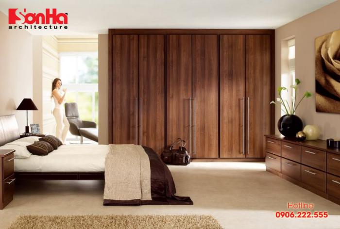 Mẫu phòng ngủ đẹp với chất liệu gỗ bố trí và tạo hình bắt mắt