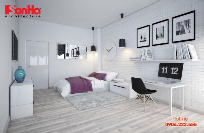 Trẻ trung và trầm ấm với thiết kế phòng ngủ diện tích 18m2 phong cách Scandinavian