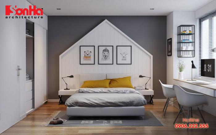 Với phòng ngủ 18m2 nếu bố trí phù hợp sẽ mang lại không gian tiện nghi
