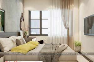 5 Thiết kế nội thất phòng ngủ 1 căn hộ chung cư wilton tower sài gòn