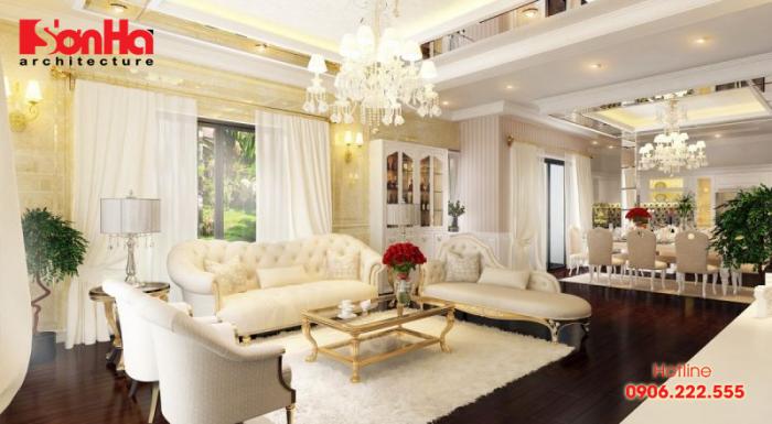Không gian nội thất xa hoa của biệt thự đẳng cấp thiết kế phong cách cổ điển