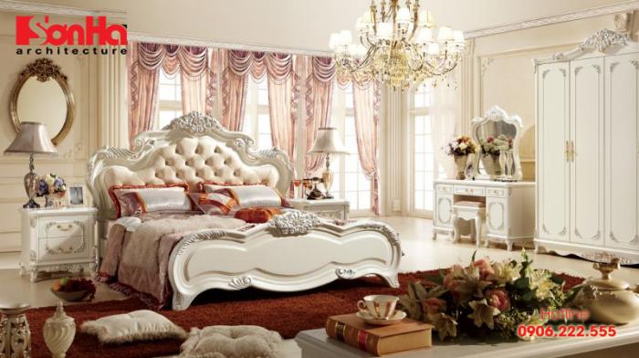 Mẫu phòng ngủ đẹp phong cách tân cổ điển cho biệt thự đẳng cấp