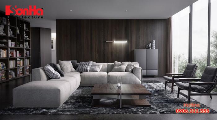 Mẫu thiết kế nội thất phòng khách với màu sắc hợp phong thủy người tuổi Bính Thìn