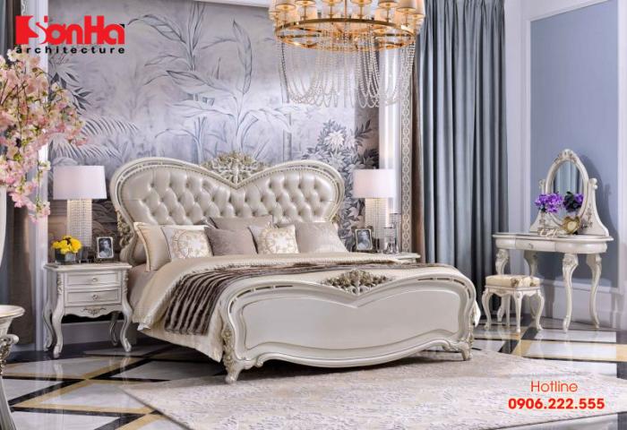 Mẫu thiết kế phòng ngủ master đẹp phong cách tân cổ điển đẳng cấp