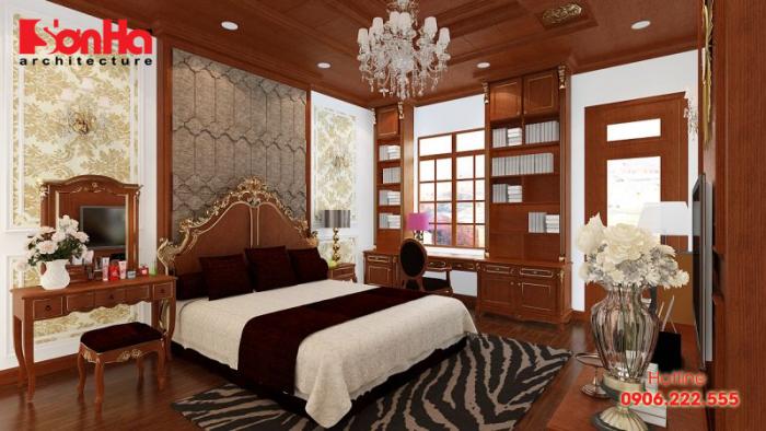 Nếu yêu thích nội thất gỗ bạn có thể chọn mẫu phòng ngủ đẹp này