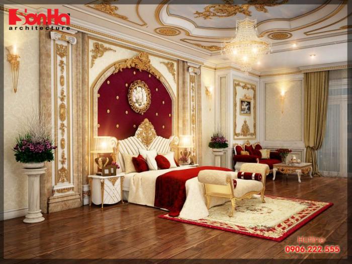 Phương án thiết kế phòng ngủ master đẹp với nội thất gỗ đẳng cấp