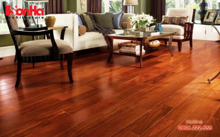 Sàn gỗ được áp dụng rộng rãi và rất được ưa chuộng trong trang trí nội thất