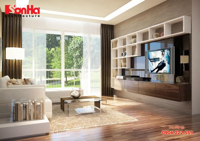 Thêm ví dụ cho việc sử dụng đồ nội thất gỗ trong trang trí phòng khách