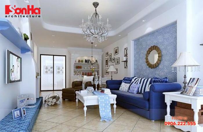 Thiết kế nội thất chung cư với màu sơn phong thủy dành cho người mệnh Thủy