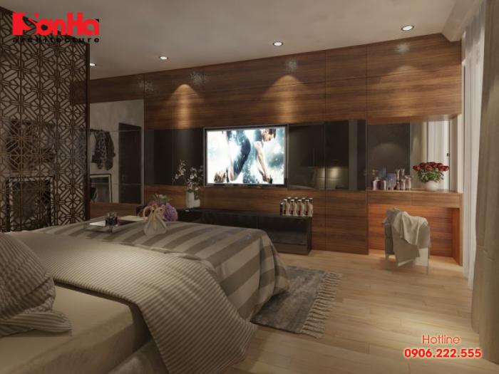 Thiết kế nội thất phòng ngủ ấn tượng với gam màu và phong cách truyền thống