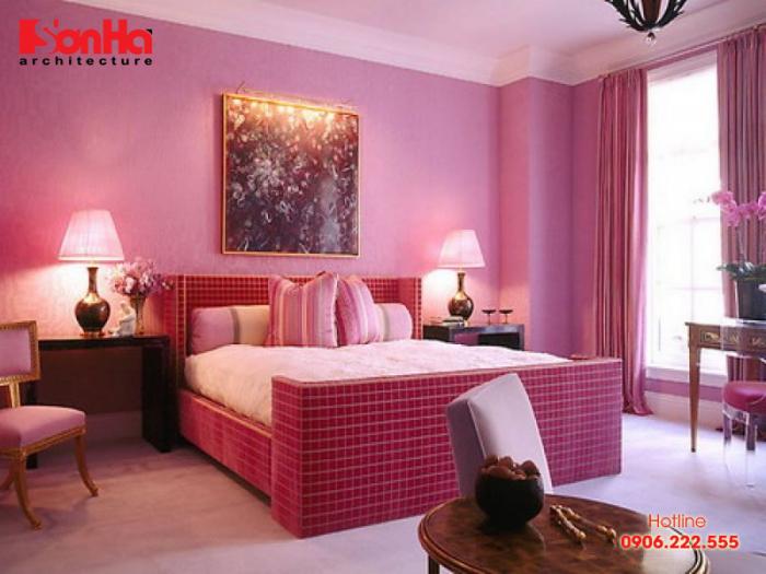 Thiết kế nội thất phòng ngủ với gam màu phù hợp cho người mệnh Hỏa