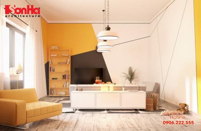 Thiết kế phòng khách gam màu phong thủy mang tài lộc cho người tuổi Canh Thìn