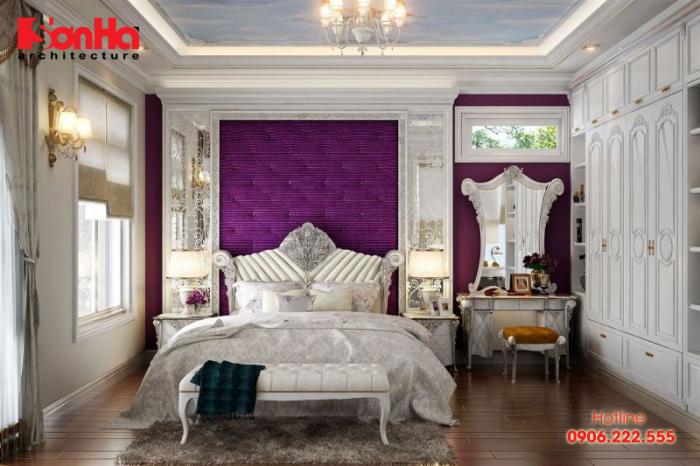 Từng đường nét trang trí nội thất phòng ngủ master đều được đầu tư kỹ lưỡng