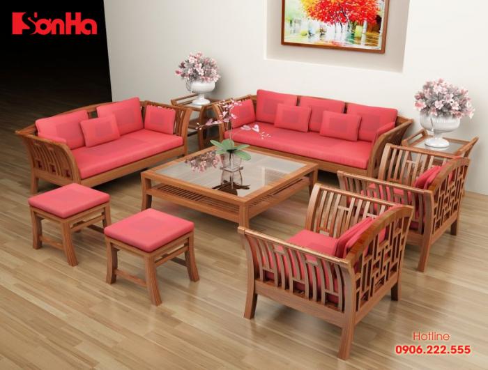 Vẻ đẹp khó cưỡng của không gian phòng khách đẹp được trang trí màu hồng