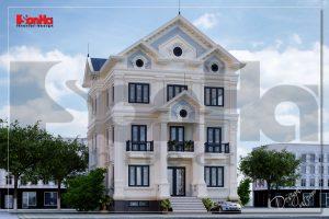 BÌA thiết kế biệt thự tân cổ điển mái thái 3 tầng 2 mặt tiền tại quảng ninh sh btp 0127