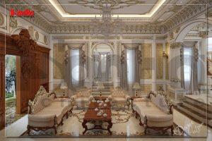 BÌA thiết kế nội thất cổ điển biệt thự lâu đài 3 tầng 1 tum xa hoa tại gia lai