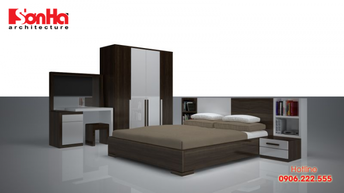 Gỗ công nghiệp được ứng dụng khá nhiều trong trang trí nội thất phòng ngủ