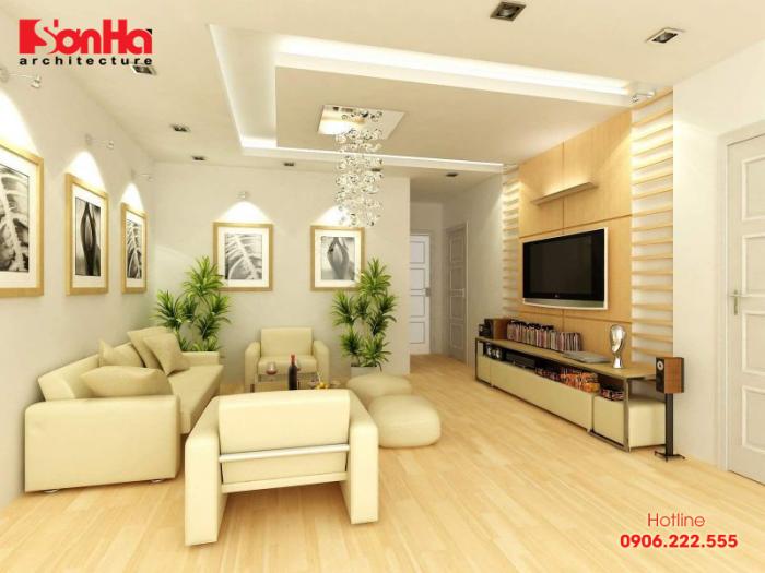 Màu vàng mang đến cho không gian phòng khách cảm giác thân thiện