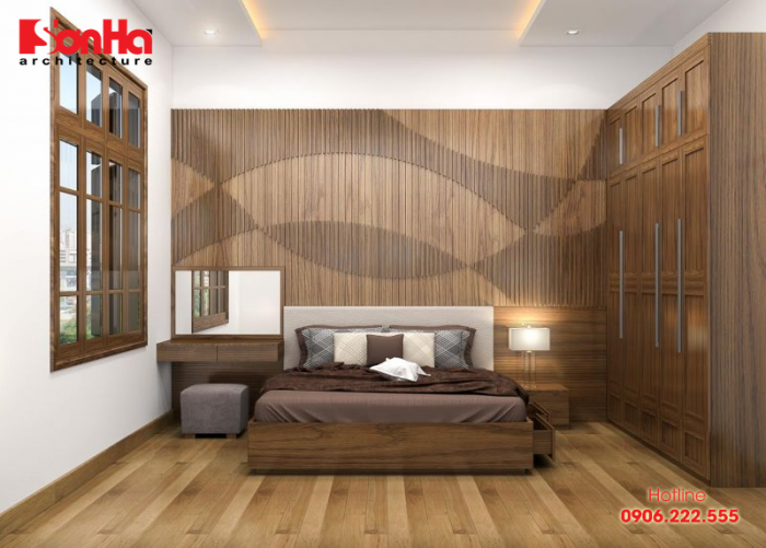 Thiết kế phòng ngủ đẹp với màu nâu cho gia chủ tuổi Ất Sửu