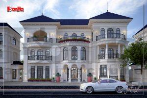 BÌA thiết kế biệt thự tân cổ điển 3 tầng có sân vườn tại hải phòng sh btp 0125